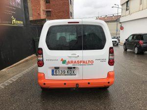 Rotulación Furgoneta Arasfalto Rótulos Herrera